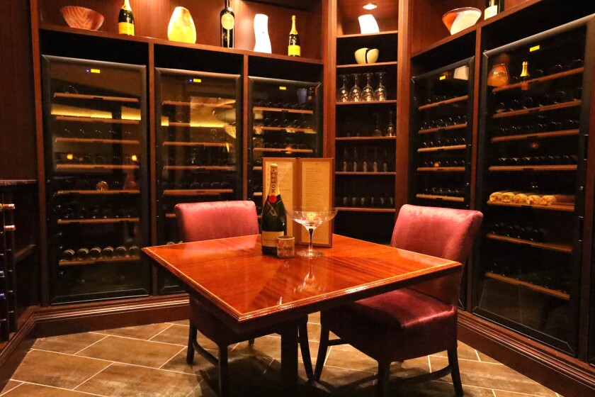 Valley View's creative Black&Blue steakhouse has its own dedicated wine room.