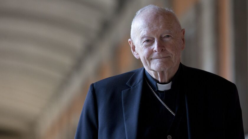 FILE - In this Feb. 13, 2013 file photo, Cardinal Theodore Edgar McCarrick poses during an interview