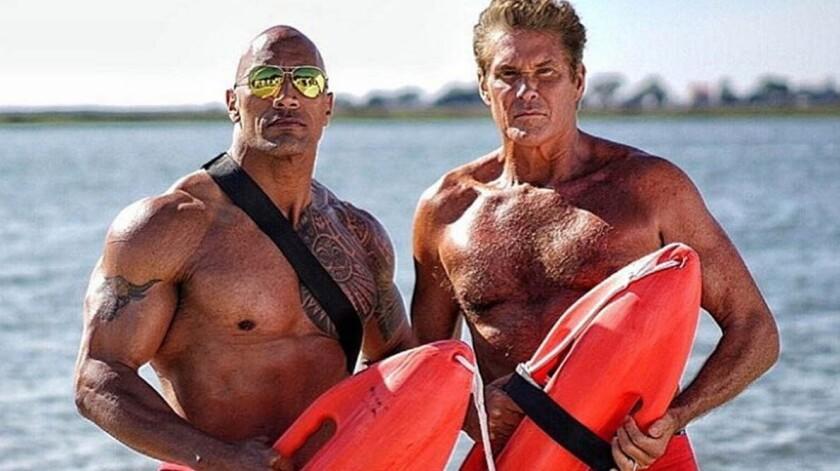 The Rock y David Hasselhoff