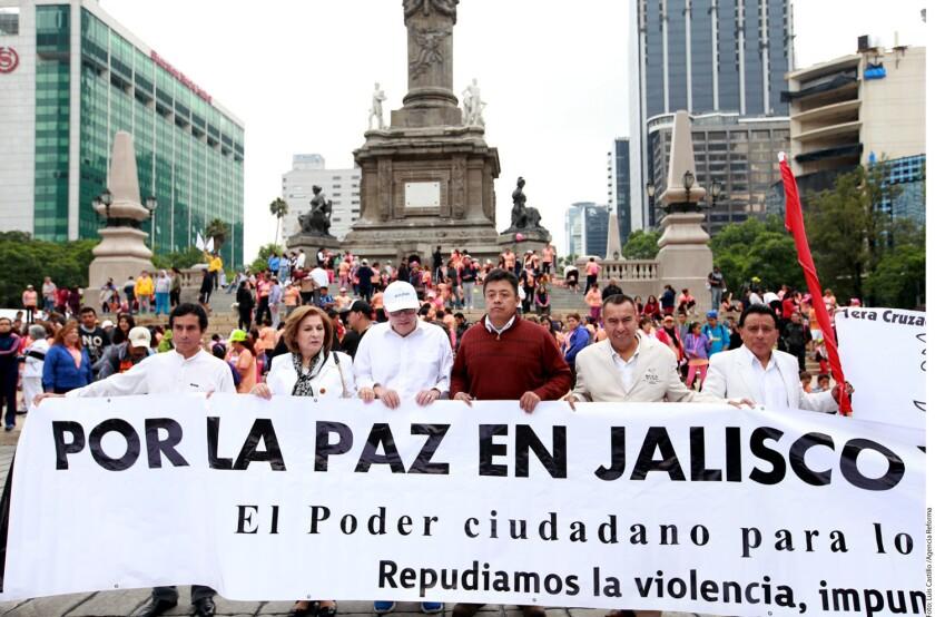 En los pasados meses ha habido una serie de manifestaciones por la paz, repudiando la violencia del Cártel Jalisco Nueva Generación