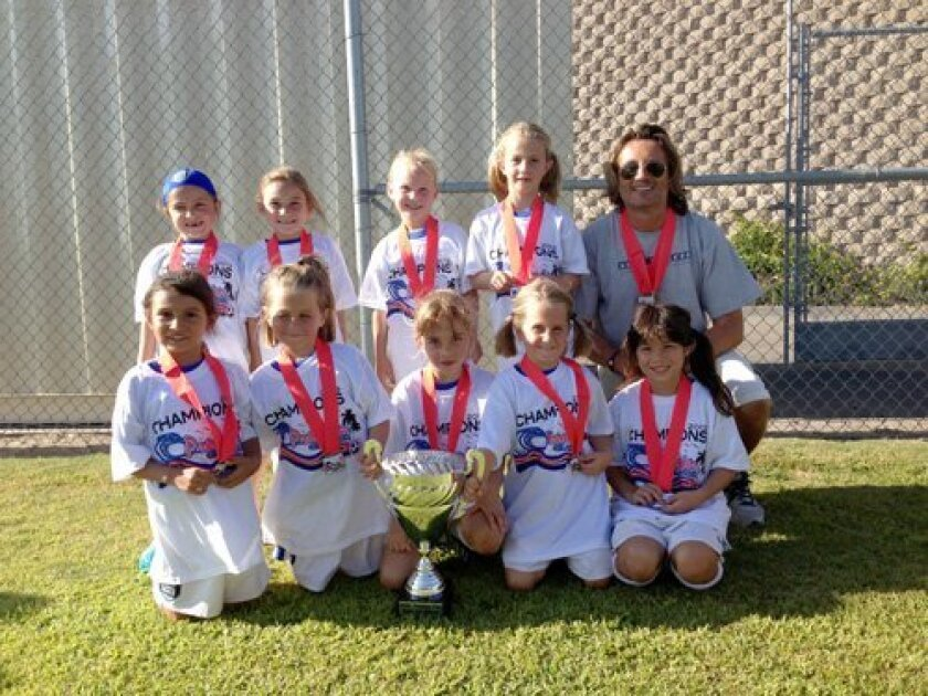 The San Diego Surf SC Girls U7 Academy I team