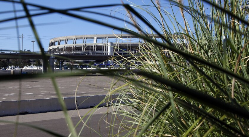 San Diego's Qualcomm Stadium, where the Padres used to play baseball and the San Diego Chargers still play football, is the city's choice for a possible replacement stadium for the Chargers.