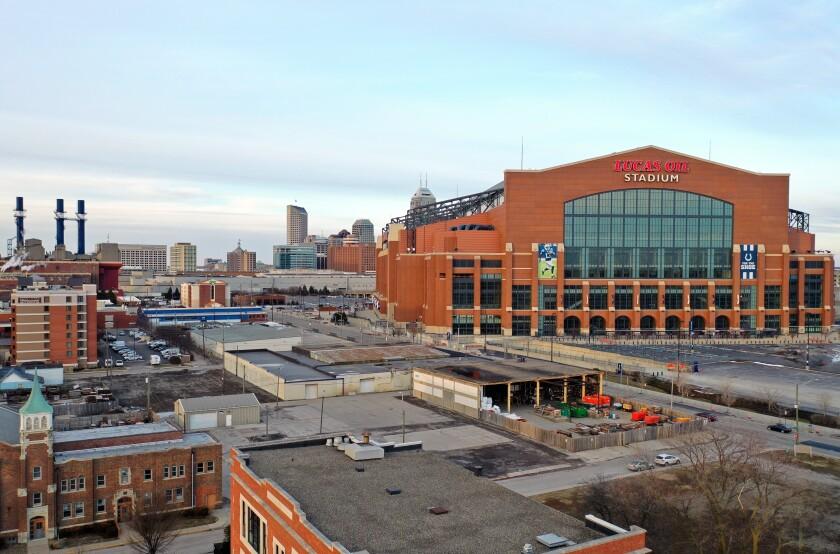 Lucas Oil Stadium in Indianapolis.