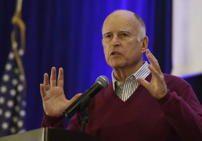 Those given pay raises by a state panel Monday include California Gov. Jerry Brown, pictured on May 6, and other state legislators and elected officials.
