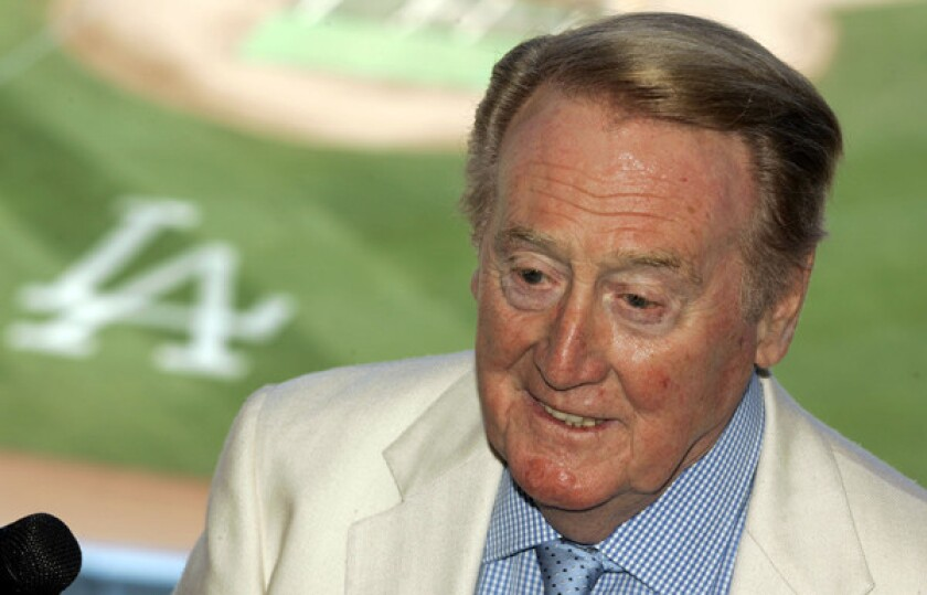 Checking in on Vin Scully during his 85th birthday