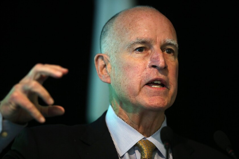 Some are urging California Gov. Jerry Brown to run a fourth time for president, in part to stop the front-runner, Hillary Rodham Clinton.
