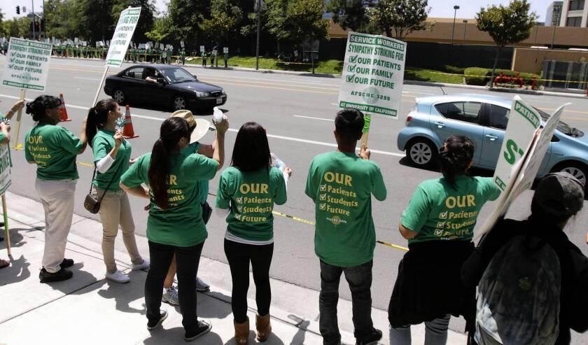 Most unionized UC hospital workers go to jobs despite strike