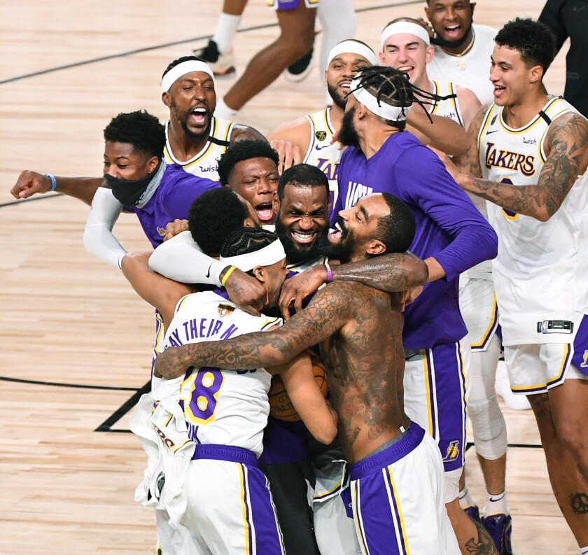 Complete Coverage Lakers Win 2020 Nba Championship Los Angeles Times
