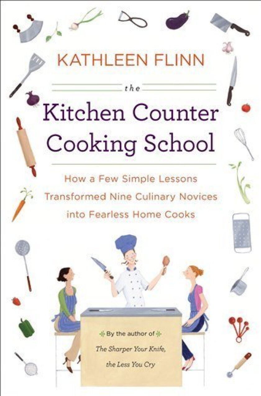 """In this book cover image released by Viking, """"The Kitchen Counter Cooking School,"""" by Kathleen Flinn, is shown. (AP Photo/Viking)"""