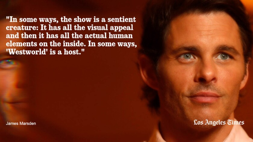 James Marsden, who plays Teddy, on the similarities between the show itself and its themes