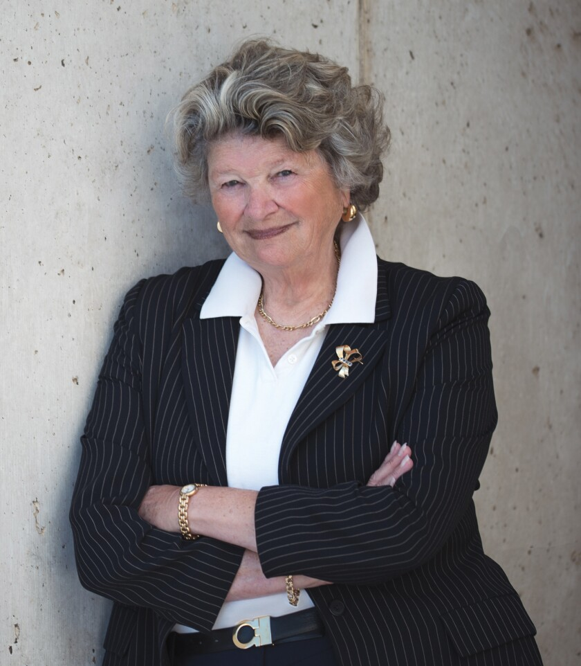 """Mary Walshok, who served as dean of UC San Diego Extension for 40 years, says """"relationships are everything."""""""