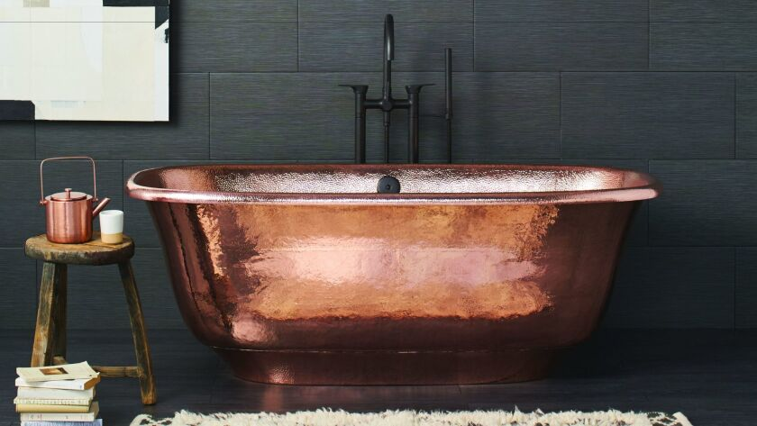 These gorgeous Native Trails soaker tubs are made from recycled copper.