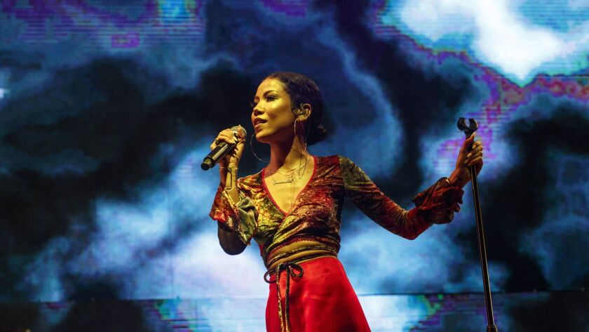 LOS ANGELES, CA - JUNE 23, 2017 - Jhene Aiko performing on the 2nd night of the STAPLES Center Conce