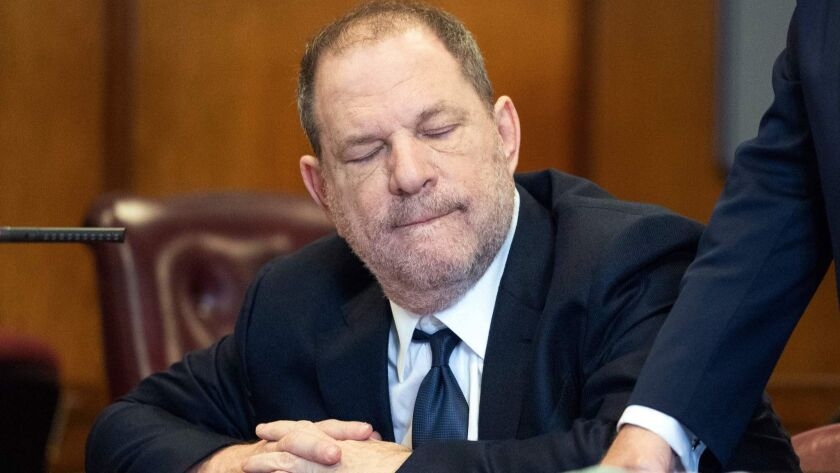 Film producer Harvey Weinstein appears in court in New York in June.