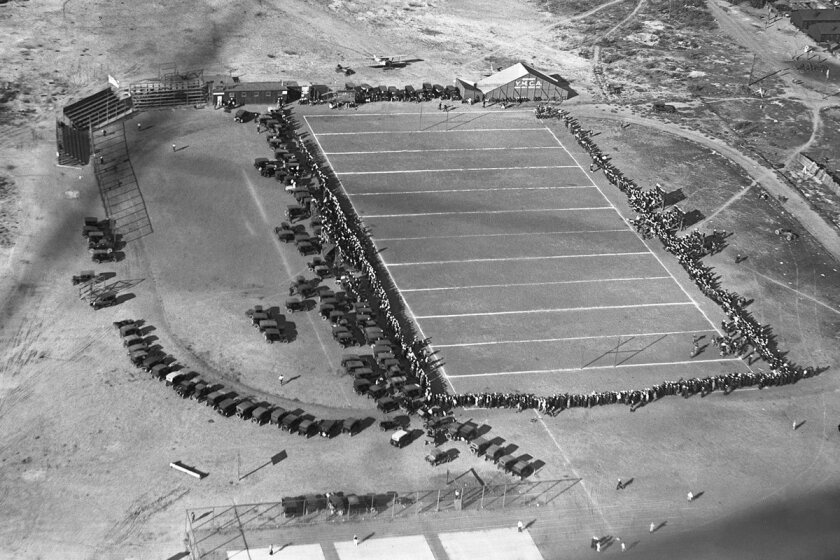 1922 aerial photo of Navy Field.