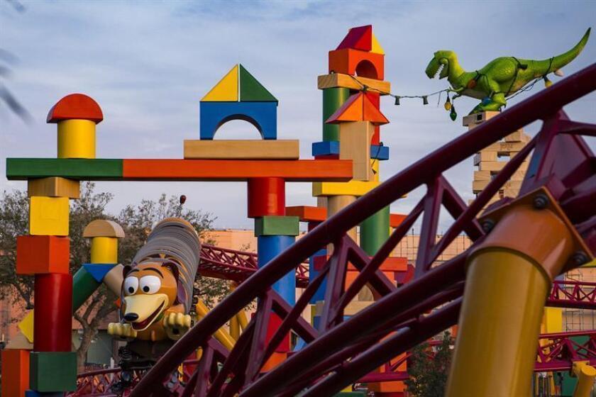 """Fotografía cedida sin fechar donde se muestra un detalle del nuevo parque """"Toy Story Land"""", del universo Disney en Orlando, Florida (EE.UU.). EFE/Disney Destinations/SOLO USO EDITORIAL/NO VENTAS"""
