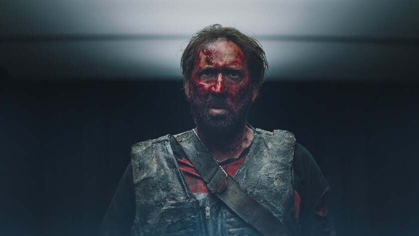 "Nicolas Cage as Red in the action, thriller film ""MANDY"" an RLJE Films release. Photo courtesy of RL"