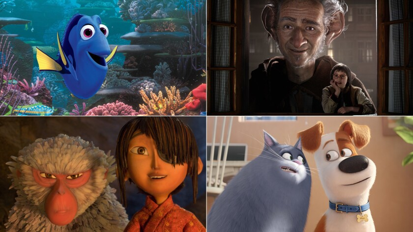 """Finding Dory,"" ""The BFG,"" ""The Secret Life of Pets,"" and ""Kubo and the Two Strings"" are among the movies schedules to be released this summer."