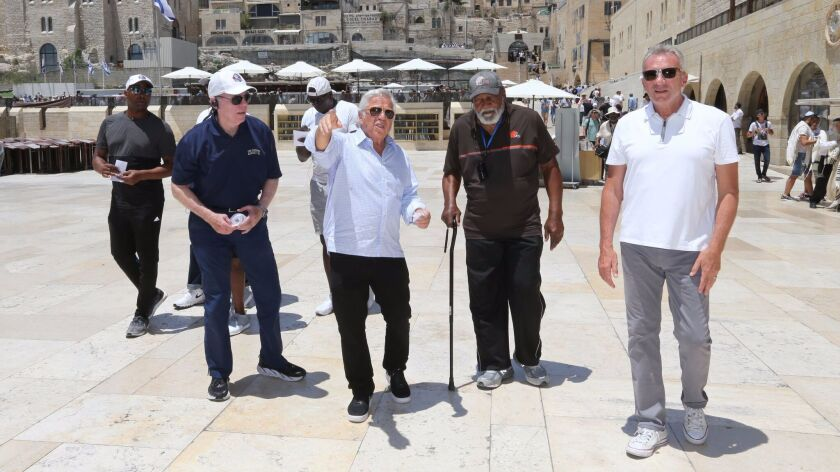 Patriots owner and CEO Robert Kraft leads a group of Hall of Famers during a week-long visit to Isra