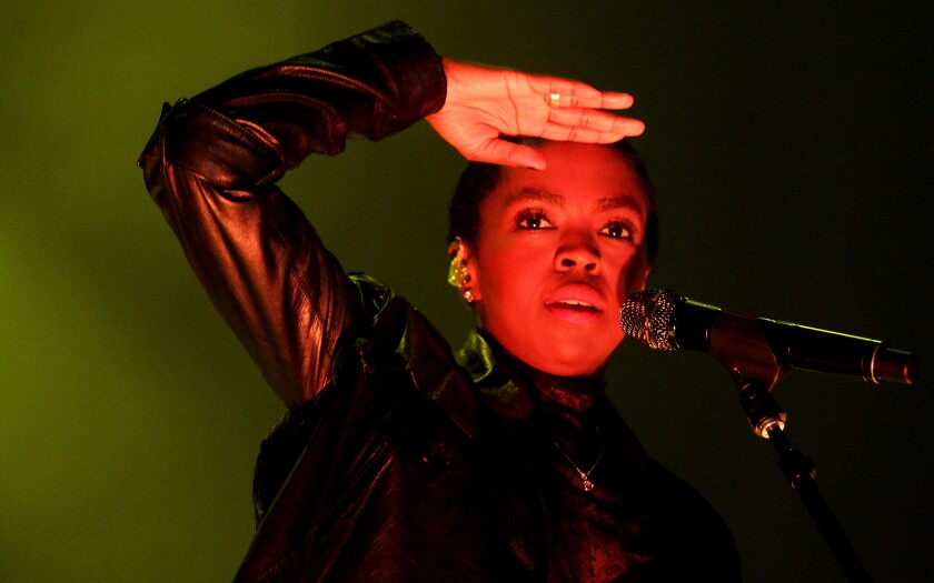 Lauryn Hill performs at Club Nokia in Los Angeles in 2014.