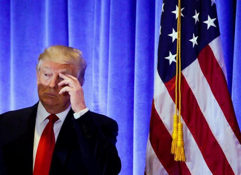 """Nadie sabe qué tipo de presidente será alguien tan impredecible como Donald Trump, pero sí está claro que el magnate llega a la Casa Blanca con el reto de cumplir una promesa electoral tan rotunda como difusa: """"Hacer a EEUU grande de nuevo"""". EFE"""