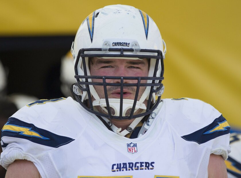 The San Diego Chargers vs. The Buffalo Bills at Ralph Wilson Stadium. San Diego Chargers center Rich Ohrnberger (74).