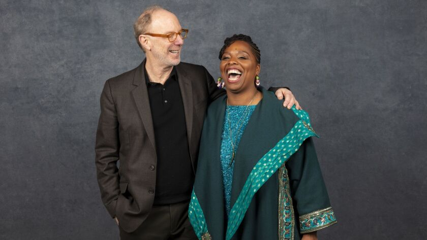 Director Kenneth Paul Rosenberg with Patrisse Cullors