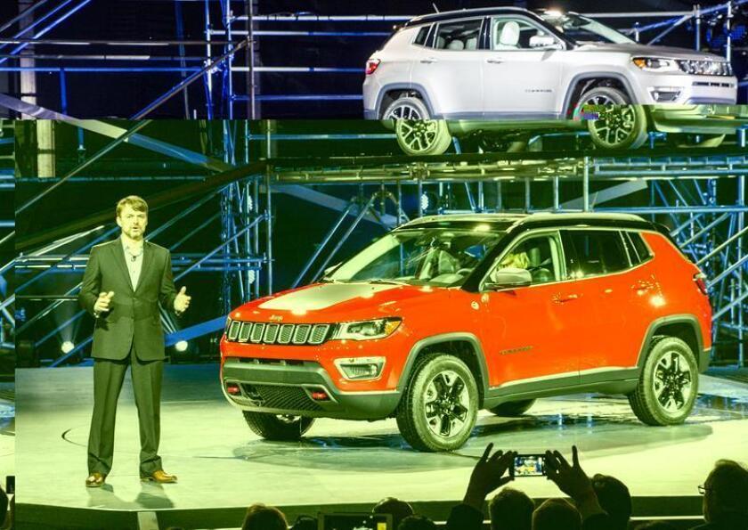 Jeep dijo hoy que en noviembre vendió 2.537 unidades de su nuevo modelo Compass en Brasil, casi cinco veces más que el siguiente vehículo en ventas en el segmento de todocaminos SUV compactos. EFE/ARCHIVO