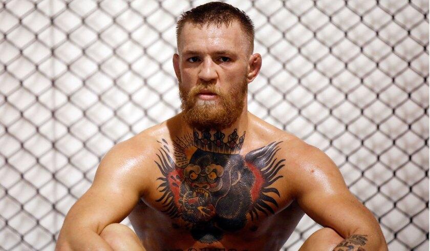 Conor McGregor trains in Las Vegas on Friday.