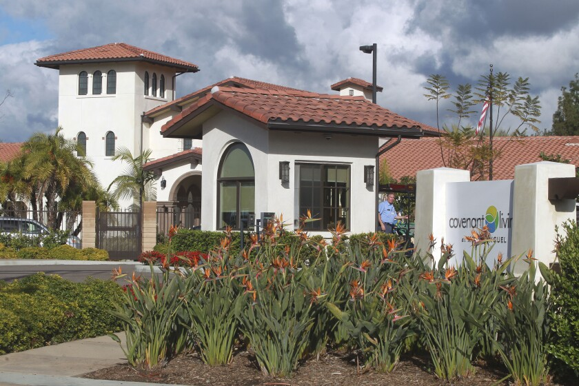 The Covenant Living at Mount Miguel retirement community on Thursday, March 12, 2020.