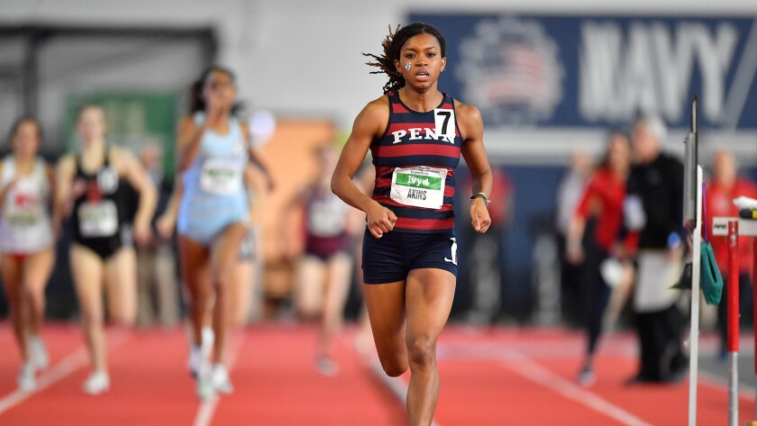 Nia Akins, who specializes in the 800 meters for Penn, remains focused on reaching the 2021 U.S. Olympic Trials.