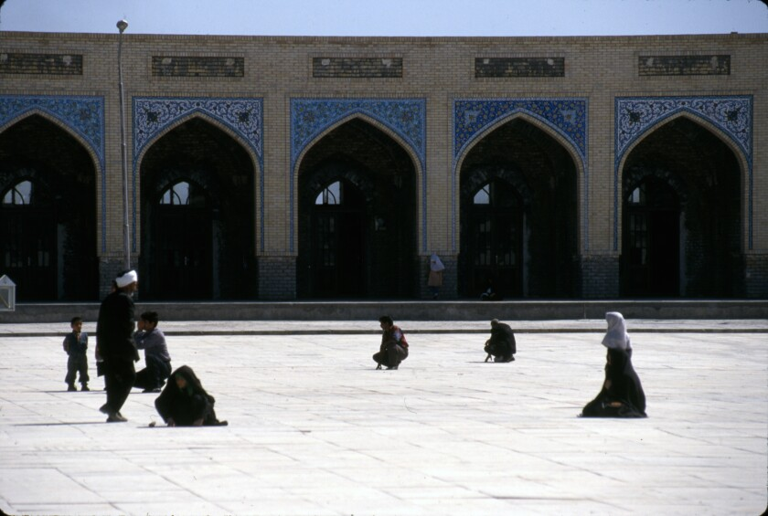 The Tomb of Khaje Rabi, a major landmark in Mashhad. Iran, 1998.