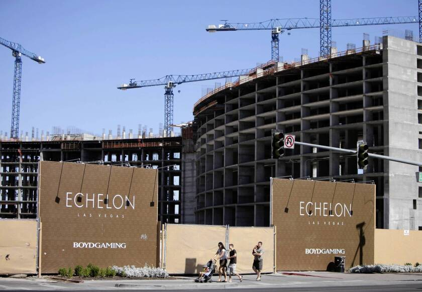 The abandoned Echelon project site in Las Vegas, shown in 2009, has been purchased by a Malaysian group in a new sign of life for the troubled city.