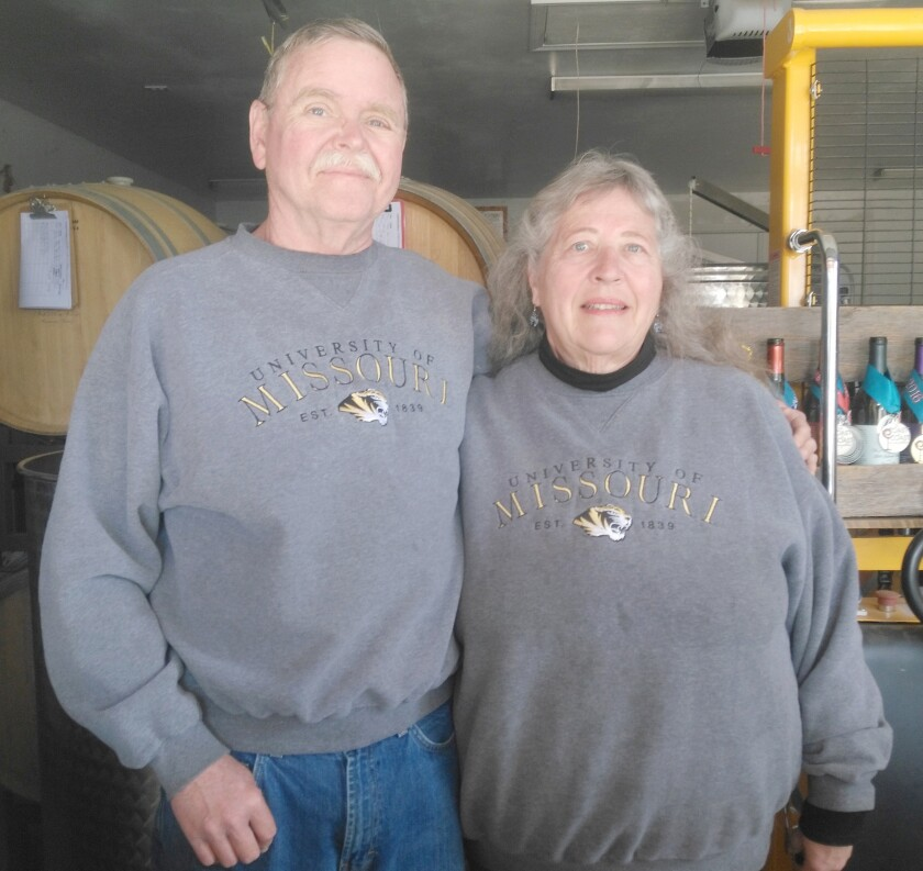 Woof 'n Rose Winery owners Stephen and Marilyn Kahle seek information about the proposed Split-Roll Property Tax Measure.