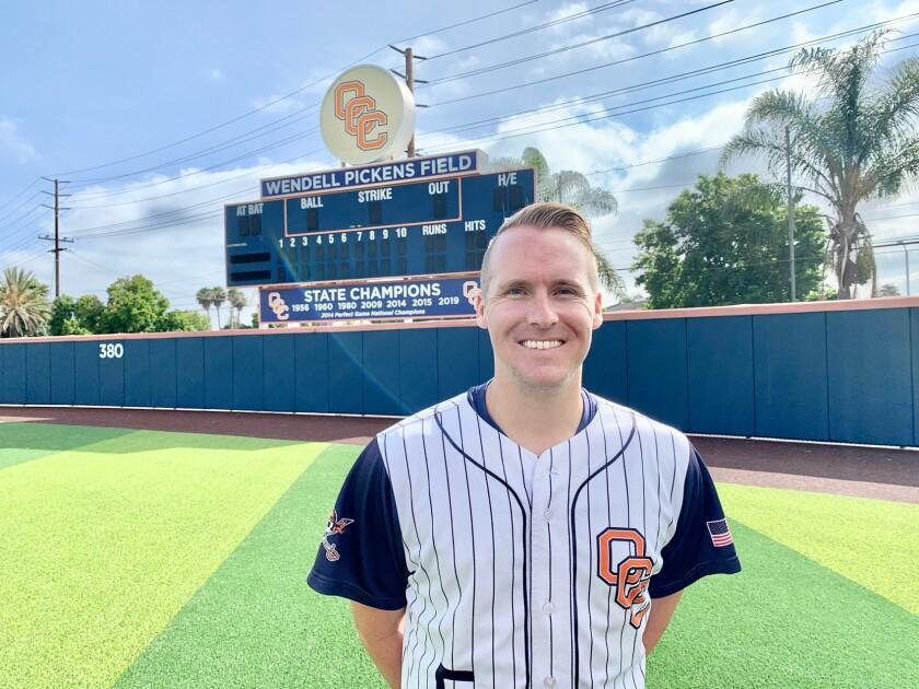 Nate Johnson was named the head coach of the Orange Coast College baseball team Thursday.