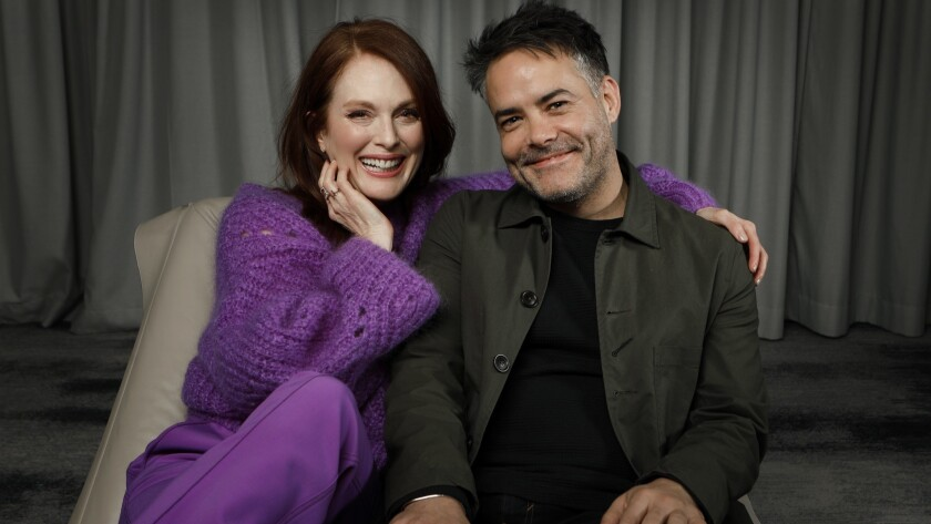 """Actress Julianne Moore and director Sebastián Lelio worked together on """"Gloria Bell,"""" an English language remake of Lelio's film """"Gloria,"""" which was released in 2013."""