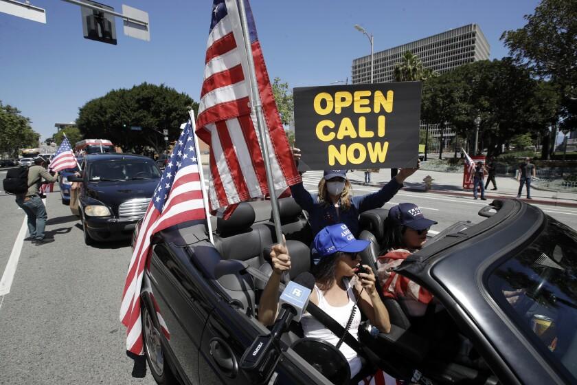 Virus Outbreak California Protests