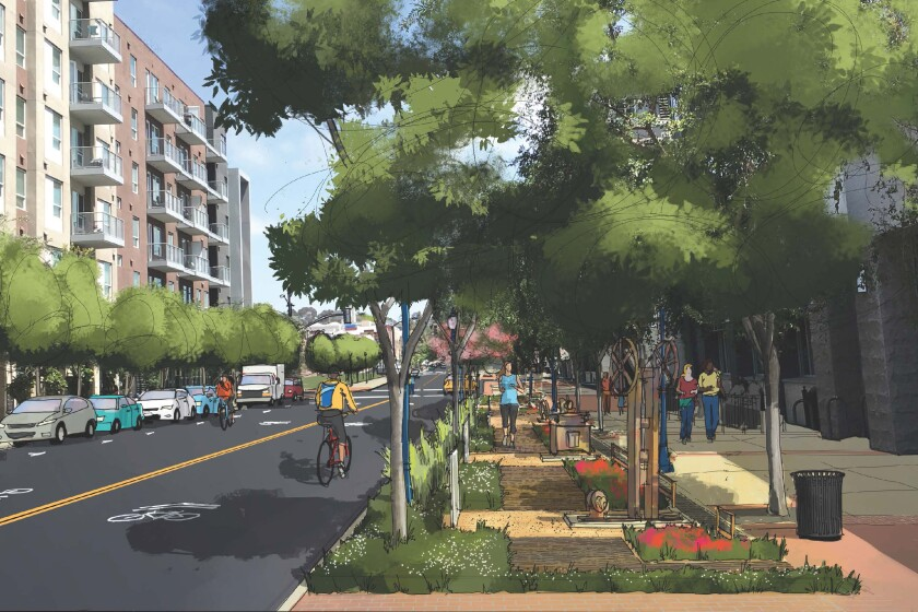 Rendering of 14th Street Promenade