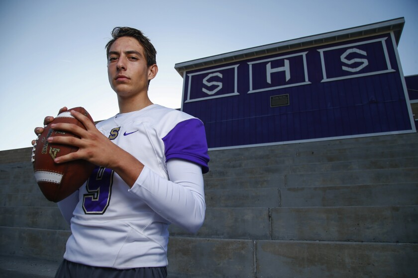 Santana quarterback Nathan Temple threw for 532 yards and seven TDs in a playoff win over La Jolla Country Day.