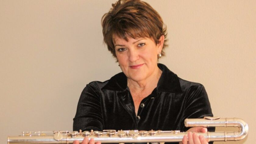 Top flutist Holly Hofmann is the curator of the March 18 all-women jazz concert at Jacobs Music Center's Copley Symphony Hall.