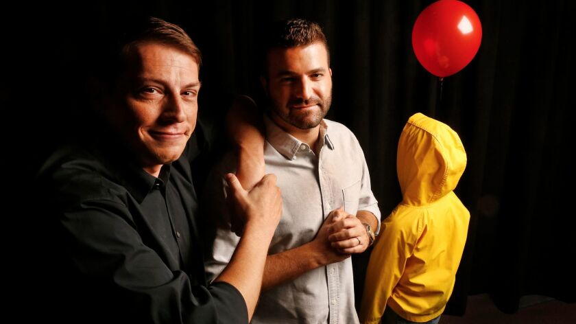"""It"" producers Seth Grahame-Smith, left, and David Katzenberg."