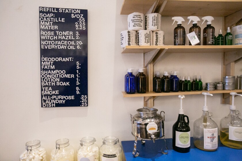 The refill station at Otherwild Goods & Services