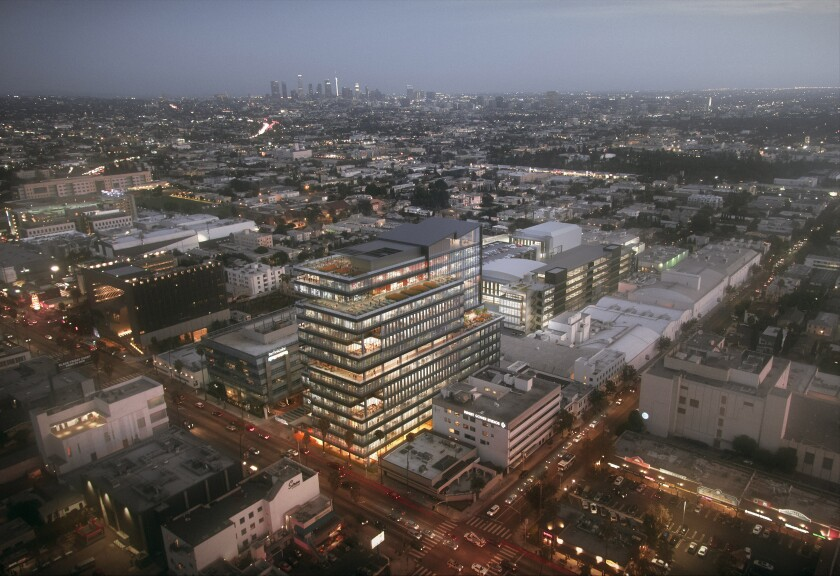 A rendering of the planned expansion at Sunset Gower Studios in Hollywood.