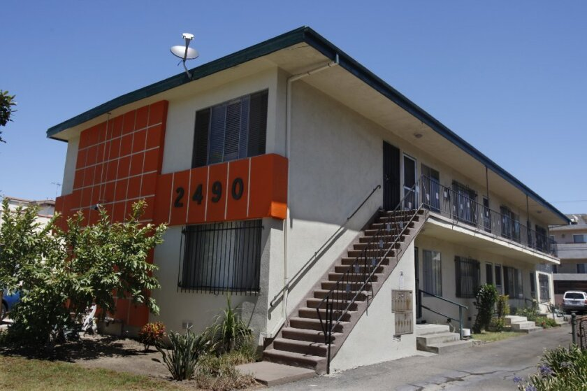 """""""Bootlegged"""" apartments were found and eliminated in this South L.A. apartment complex in 2008."""