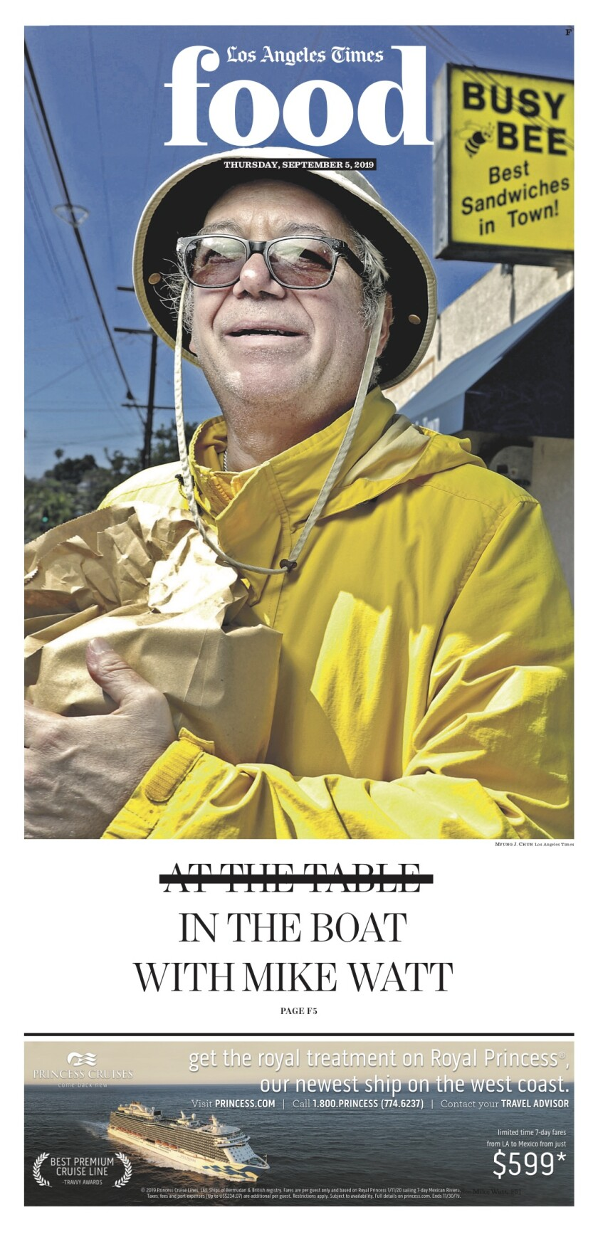 Los Angeles Times Food cover, September 5, 2019