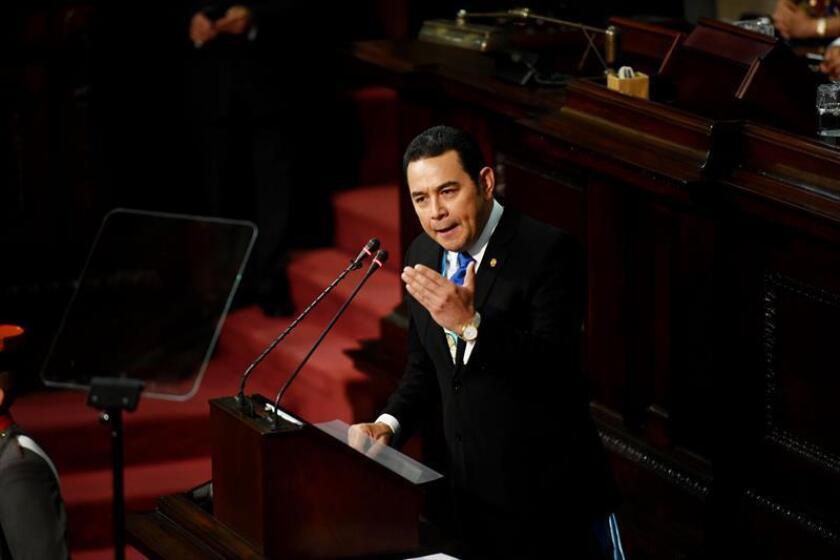 El presidente de Guatemala, Jimmy Morales, se reunió hoy con dirigentes empresariales en Nueva York en el marco de su visita a Estados Unidos. EFE/ARCHIVO