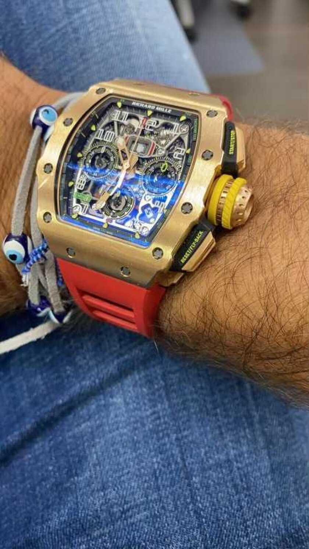 Man wearing $500,000 watch