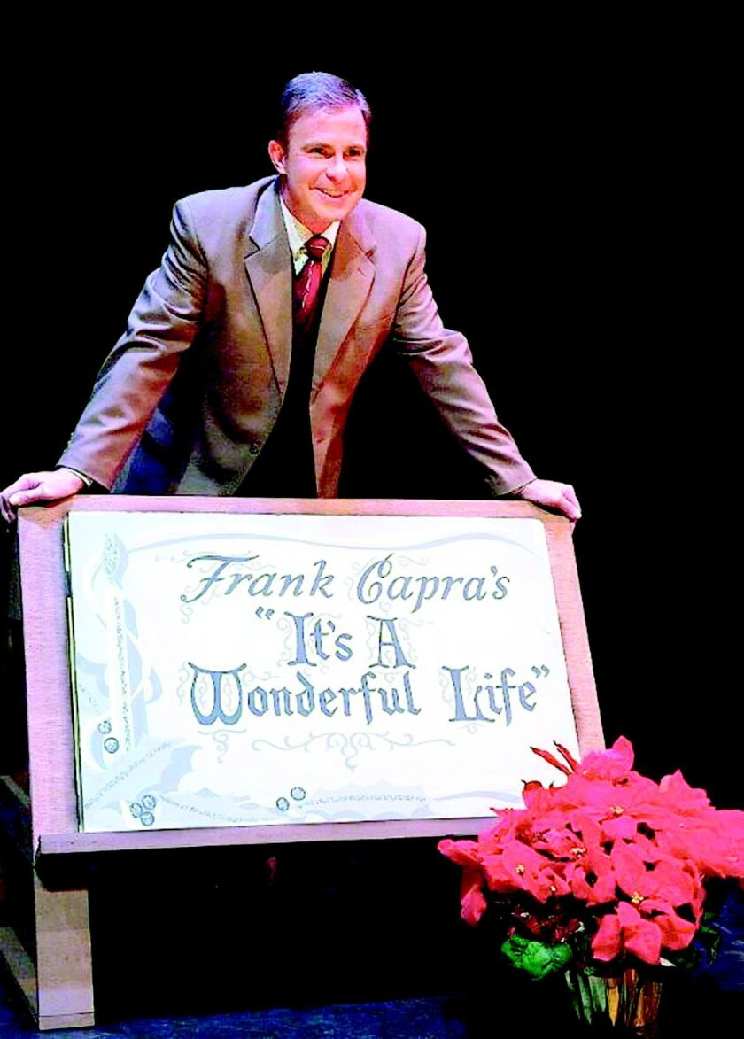 James Leaming stars in a one-man version of 'This Wonderful Life,' adapted by Steve Murray at the North Coast Repertory Theatre, Dec. 10-28.