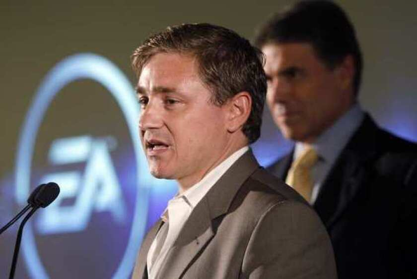 EA Games President Frank Gibeau, left. The Consumerist named Electronic Arts as the worst company in America.