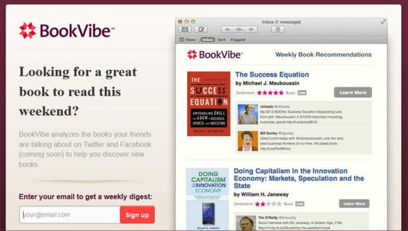 Parakweet gets $2 million for recommendation engine BookVibe